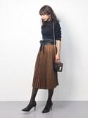 erikoさんの「Lady度高めなミニバッグでリッチなオトナstyle!チェーン取り外しOK☆2wayチェーンショルダーミニバッグ/レディースBAG/神戸レタス[B981](KOBE LETTUCE|KOBE LETTUCE)」を使ったコーディネート