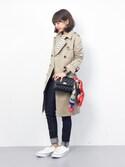 erikoさんの「【U.Q/ユウキュウ】スカーフ【mimis/ミィーミィーズ】(mimis|ミイーミイーズ)」を使ったコーディネート