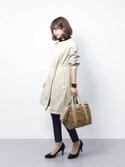 erikoさんの「Khaju:ノーカラーコート 17SS◇(Khaju|カージュ)」を使ったコーディネート