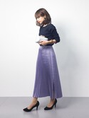 erikoさんの「Iラインプリーツスカート(ADAM ET ROPE'|アダム エ ロペ)」を使ったコーディネート