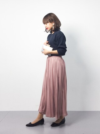 「BY ミドルサーマルメッシュ7分袖カットソー(BEAUTY&YOUTH UNITED ARROWS)」 using this ZOZOTOWN|eriko looks