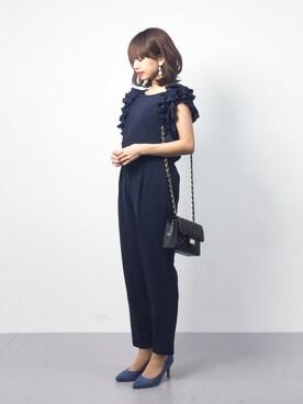 ZOZOTOWN|erikoさんの「《andGIRL3月号モデル美香さん着用アイテム》袖フリルパンツセットアップ《WEB限定カラーあり》(31 Sons de mode|トランテアン ソン ドゥ モード)」を使ったコーディネート