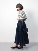 erikoさんの「3パネルコットンボイルボリュームスカート(r.p.s|アールピーエス)」を使ったコーディネート