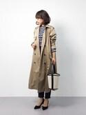 erikoさんの「さっと羽織ってかっこいいロングトレンチコート(haco!|ハコ)」を使ったコーディネート