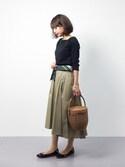 erikoさんの「アソートスカーフ/745843(GLOBAL WORK|グローバルワーク)」を使ったコーディネート