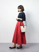 erikoさんの「DOORS 針抜きフライス7分袖Tシャツ(URBAN RESEARCH DOORS WOMENS|アーバンリサーチ ドアーズ ウィメンズ)」を使ったコーディネート