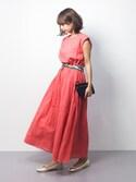 erikoさんの「チェーン柄シルクスカーフ(AULI|アウリィ)」を使ったコーディネート