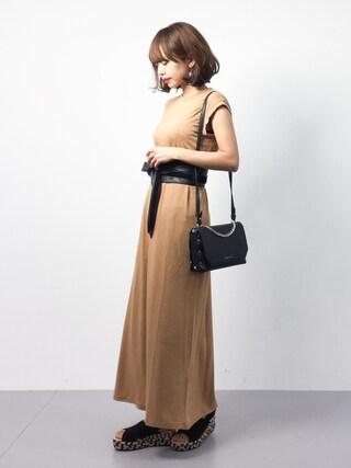 「バッグスリットワンピース(TODAYFUL)」 using this ZOZOTOWN|eriko looks