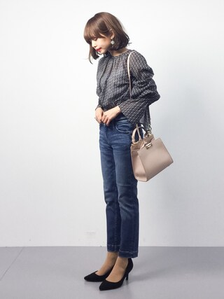 「BY エスニックベルトスリーブブラウス(BEAUTY&YOUTH UNITED ARROWS)」 using this ZOZOTOWN|eriko looks