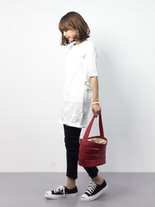 ZOZOTOWN|erikoさんの「BACK OPEN 5分袖 OP(SLY|スライ)」を使ったコーディネート