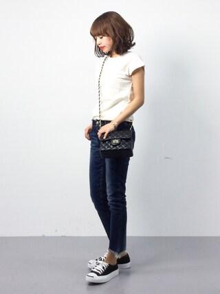 ZOZOTOWN|erikoさんの「オーガニックコットンフレンチスリーブTシャツ(titivate|ティティベイト)」を使ったコーディネート