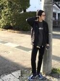 """ユタ is wearing URBAN RESEARCH DOORS MENS """"DOORS WATCH CAP"""""""