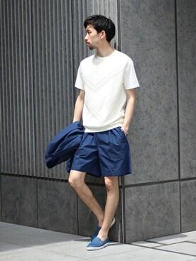 417 by EDIFICE渋谷店 松木さんのテーラードジャケット「◇I3 ittybitty ED コーデュラシャツジャケット(EDIFICE エディフィス)」を使ったコーディネート
