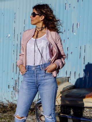「Citizens of Humanity Liya High Rise Classic Fit Jeans(Citizens of Humanity)」 using this Carla  looks