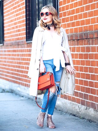 「Petite Women's Topshop Moto Jamie Super Rip Skinny Jeans(Topshop)」 using this Zia Domic looks