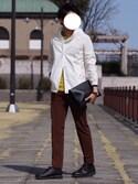 howellさんの「【ZOZO限定】STUDIOUS シルキータッチUネックロンT - made in japan -(STUDIOUS|ステュディオス)」を使ったコーディネート