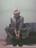 △◯視覚と罰【WEARカラオケ部】さんの「TOWEL BLANKET ▽(journal standard Furniture|ジャーナルスタンダードファニチャー)」を使ったコーディネート