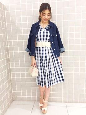 MIIA札幌パセオ店|YURINAさんの「ウエストシャーリングシャツワンピース(MIIA|ミーア)」を使ったコーディネート