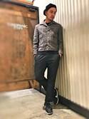 Yusuke Tanakaさんの「【ROUE】フォルモサテックトラウザーパンツ(CIAOPANIC TYPY|チャオパニックティピー)」を使ったコーディネート