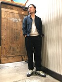Yusuke Tanakaさんの「コーデュロイワイドパンツ(CIAOPANIC TYPY|チャオパニックティピー)」を使ったコーディネート