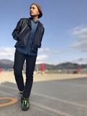 Yusuke Tanakaさんの「ダブルライダースジャケット(CIAOPANIC TYPY|チャオパニックティピー)」を使ったコーディネート