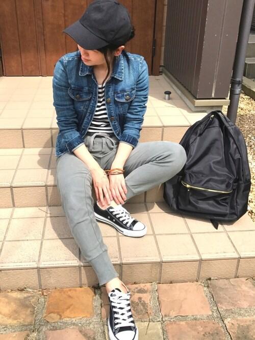 macoさんの「TWILL SOLID CAP【niko and...】(niko and...)」を使ったコーディネート