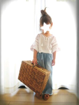 yu-kaさんの「刺繍入りスモック(petit main|プティマイン)」を使ったコーディネート