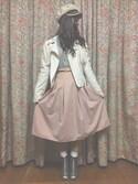 「スプリングカラーフレアミディスカート(dazzlin)」 using this shiba looks