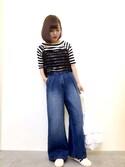 ぱぬ美さんの「Tシャツ&レースキャミセット 749833(LOWRYS FARM)」を使ったコーディネート