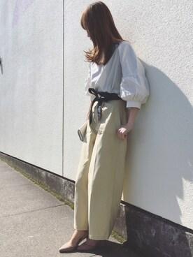 Sato*さんの「バックツイルベイカーワイドパンツ(mysty woman|ミスティウーマン)」を使ったコーディネート