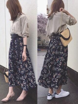 「【洗濯機で洗える】モダールポリエステル襟ワイヤー入りシャツ(AZUL ENCANTO)」 using this Sato* looks