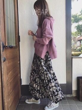 Sato*さんのスカート「プリーツロングスカート(titivate ティティベイト)」を使ったコーディネート