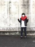 hideyukiさんの「WEGO/プレーンスヌード(WEGO|ウィゴー)」を使ったコーディネート