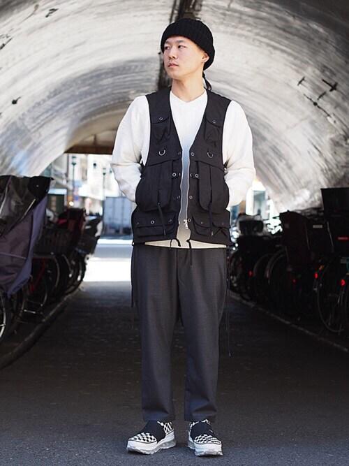 Hikimaさんの「YASHIKI Matoi Knit(Revelations/)」を使ったコーディネート