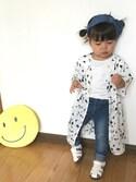 shiina♡♡さんの「【キッズ】リボンカチューシャ/744789(GLOBAL WORK グローバルワーク)」を使ったコーディネート