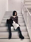 yurina katsuraさんの「KMRii/ケムリ/WorldsEndLongSlitOP(KMRii)」を使ったコーディネート
