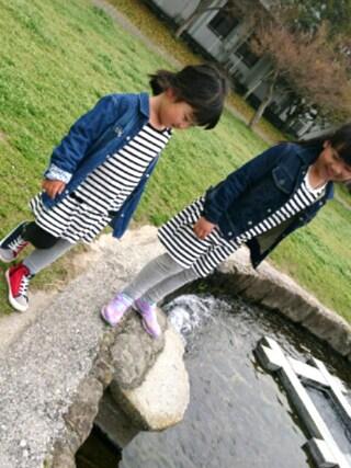 R♡M♡Sさんの「【KIDS】 ガールズデニムシャツ(green label relaxing|グリーンレーベルリラクシング)」を使ったコーディネート