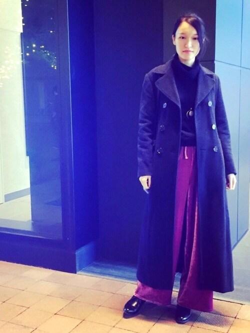 Harukaさんの「WOMEN カシミヤタートルネックセーター(長袖)(ユニクロ)」を使ったコーディネート