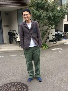 45R 仙台パルコ2店|うえすさんのTシャツ/カットソー「45★Tシャツ(45R|フォーティファイブ・アール)」を使ったコーディネート