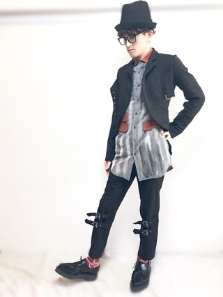 (BLACK COMME des GARCONS) using this nabeshinya looks
