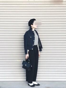 kikoさんの「ダブルレイヤードストレッチ バギータックパンツ#(JOURNAL STANDARD|ジャーナルスタンダード)」を使ったコーディネート