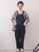 よちさんの「ギンガムバルーン袖トップス4879(merlot|メルロー)」を使ったコーディネート