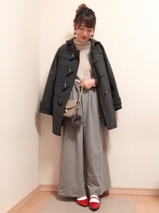 ayumaruさんの「袖タック入りニットプルオーバー(ViS|ビス)」を使ったコーディネート