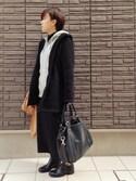 まよさんの「レザートートバッグ/ショルダーバッグ【PLAIN CLOTHING】(PLAIN CLOTHING プレーンクロージング)」を使ったコーディネート