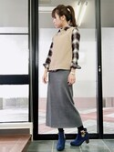 aiさんの「WOMEN メリノブレンドリブスカート(ユニクロ|ユニクロ)」を使ったコーディネート