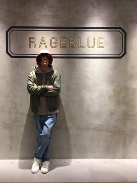 RAGEBLUE町田モディ店|松永さんのハット「バケットHAT/746185(RAGEBLUE|レイジブルー)」を使ったコーディネート