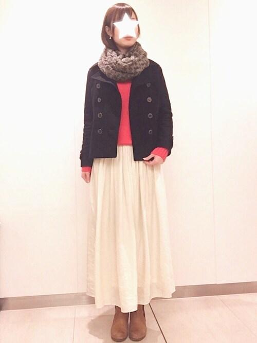 maimaiさんの「&スロウカラーがかわいいウール100%のベーシックニット(haco!)」を使ったコーディネート