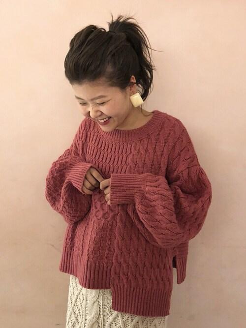 37b42fe2d29 miyazaki|who's who Chicoのニット/セーターを使ったコーディネート - WEAR