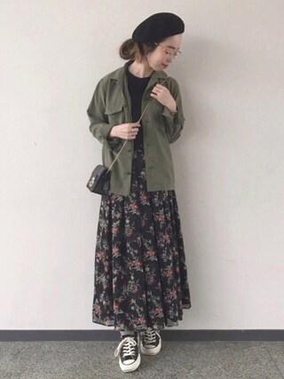 ma.さんの「花柄スカート(NOISE MAKER ノイズメーカー)」を使ったコーディネート