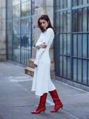 Yulia F. Kirpalani is wearing Maje